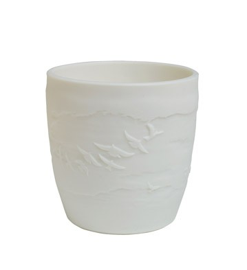 VOTIVE CANDLE HOLDER (WHITE)