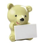 LITTLE BEAR WITH MESSAGE (PISTACHIO)