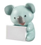KOALA WITH MESSAGE (TURQUOISE)