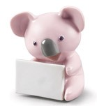 KOALA WITH MESSAGE (PINK)