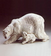 POLAR BEAR WITH CUB